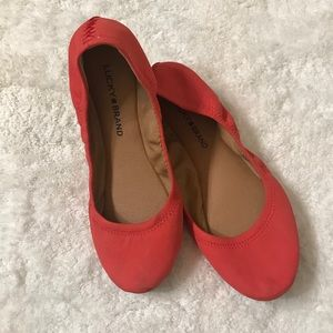 Coral Lucky Brand Flats